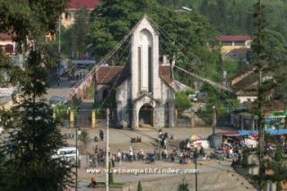 Nhà thờ đá tại Sapa.