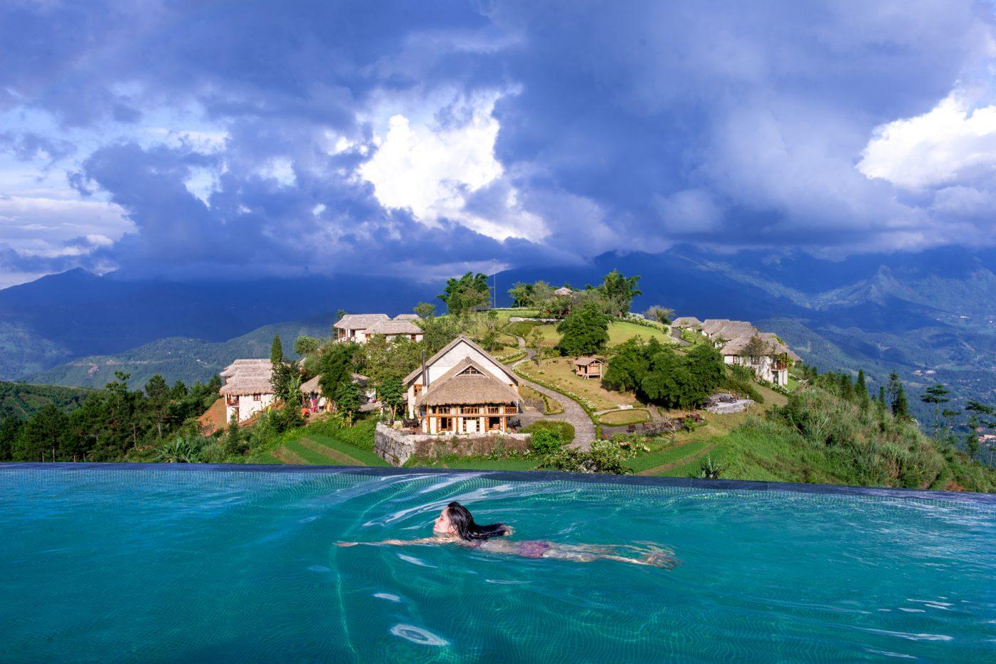 Combo siêu rẻ Sapa - Topas Ecolodge - Bể bơi vô cực